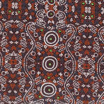 aboriginal dot art fabric swatch by M&S Textiles