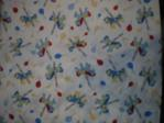 Blue Carousel Horse baby fabric swatch