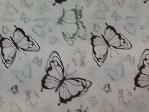 black green pink butterflies cream background available at Lee Nova Craft