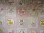 baby fabric swatch with rubber duck