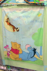 Winnie the Poo Cot Cover fabric