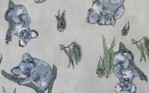 Koalas 100% Cotton Fabric